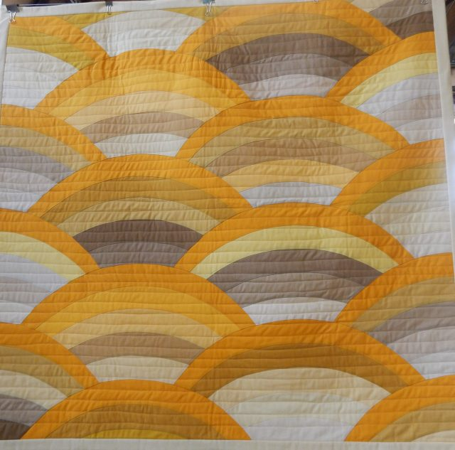 Endless Summer by Kathy McNamara - a design by Latifah Saafir , Molehill Moelhills Workshop by Latifah Saafir. Latifah is a Jnaome America Educator based in LA and she has founded a large Modern Quilt Guild there.