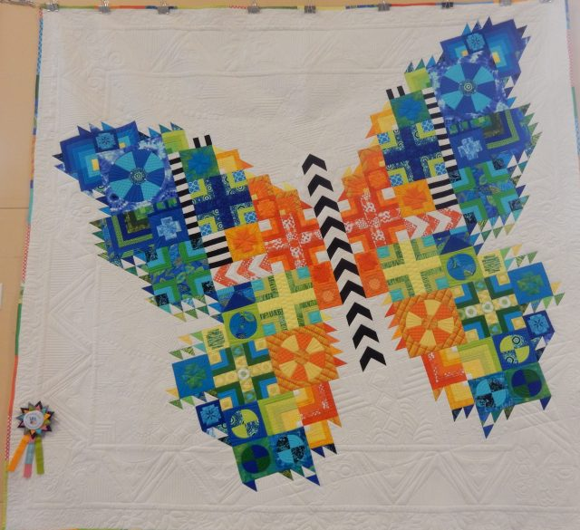 Butterfly by Lauralyn Connor. She won a Viewers Choice award. see close up of the quilting in next pic.