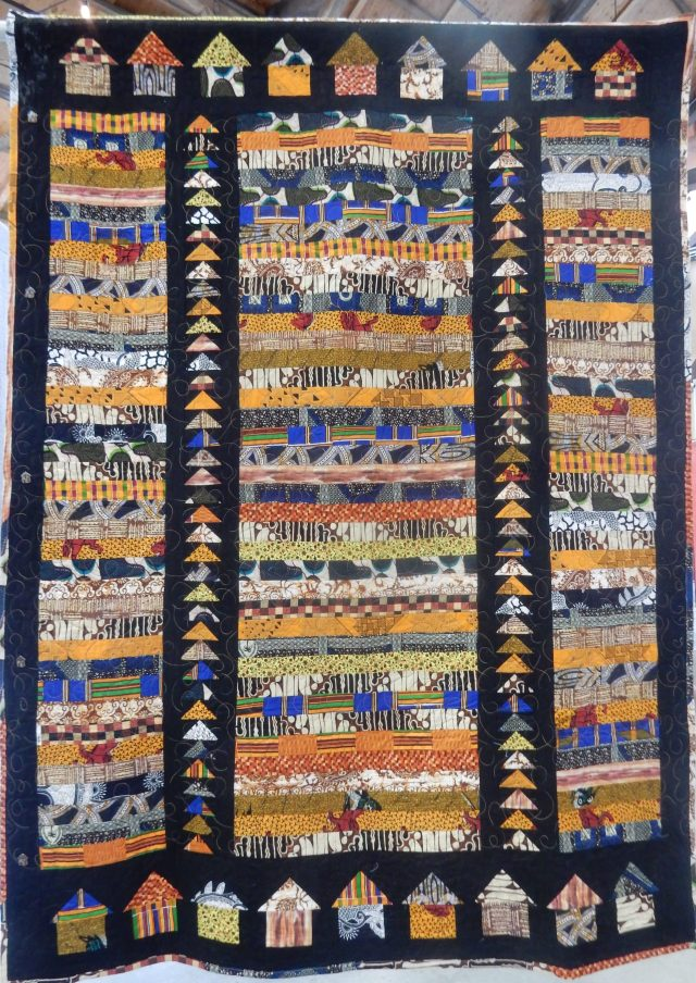 Aaahh.....African Journey by Mary Stewart, quilted by Sherri Coultard, Design: Pippa Moore.