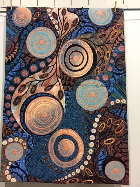 "This is another of her quilts - in the book ""Quilted Symphony"" which offers more abstract compositions."