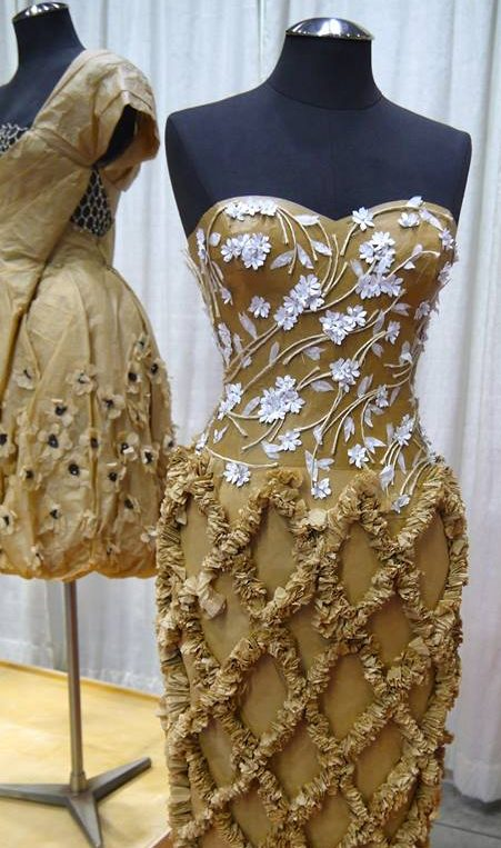 The incredible display of brown paper couture done by the students of Langara Colleges Design Formation Program.