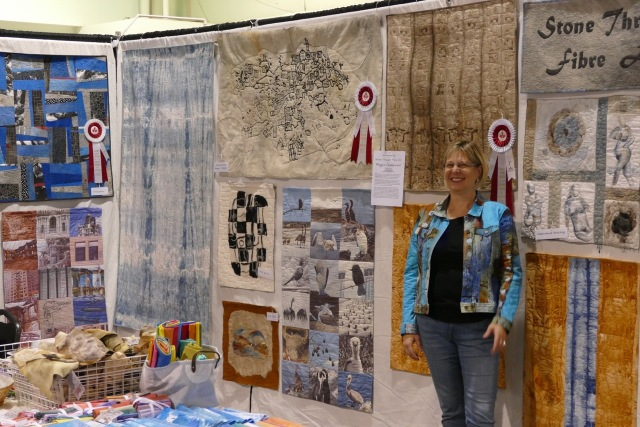 Another pic showing Maggie's art quilts at the Creativ Festival. Pic courtesy of Fred Meredith