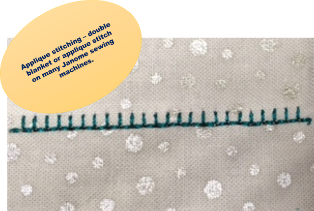 SOME APPLIQUE SECRETS Janome Life Extraordinary Blanket Stitch On Sewing Machine