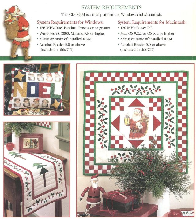 Back cover of the Leisure Arts Christmas sampler book