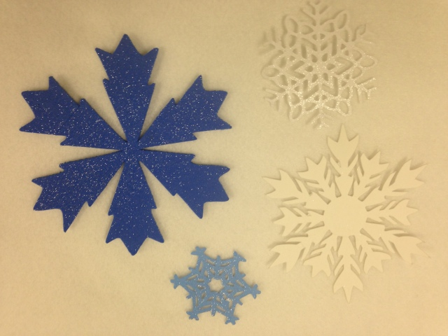 Christmas shapes cut from craft foam - use for all sorts of holiday decor and gift giving