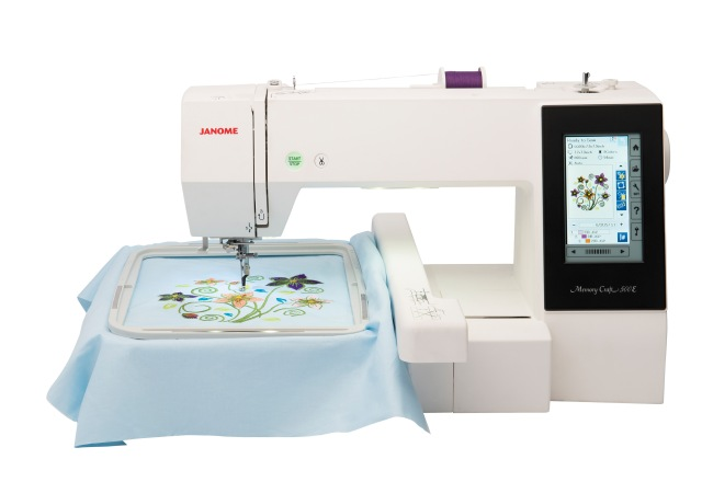 I will be focussing on our Janome embroidery models on the booth - come an see what I am busy with!