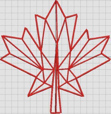 Stem Stitch Outline Leaf
