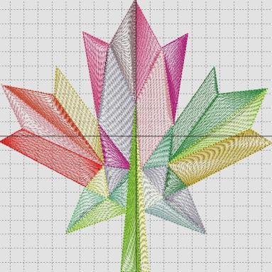 Stylized String Leaf