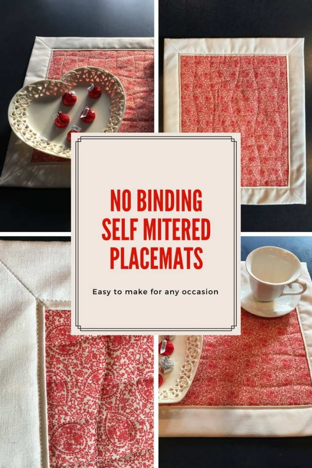 No Binding Self Mitered Placemats