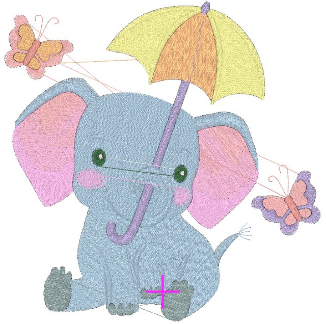 free embroidery library design elephant