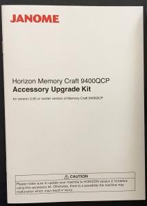 Janome 9400 upgrade kit inside box