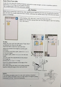 Janome 9400 Upgrade Kit manual pg. 3