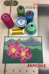 Postcard and threads