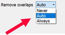 overlap optionsmenu