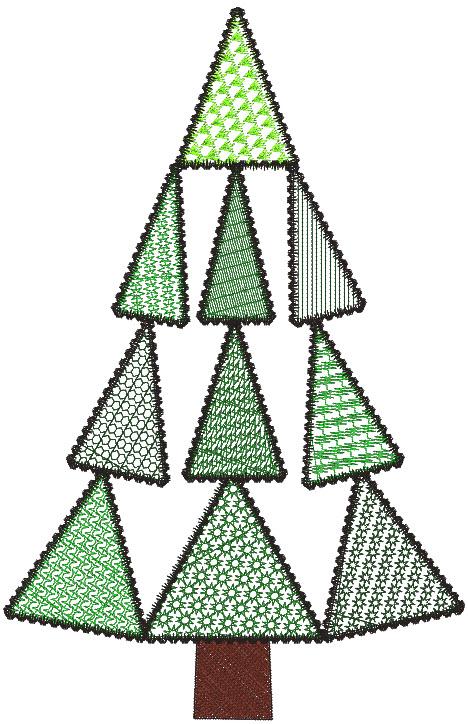 trapezoid tree textured