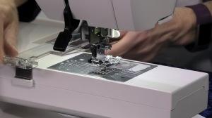 Janome MC9400 Cloth Guide - On