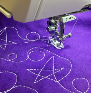 QO foot free motion quilting stars and loops - 1