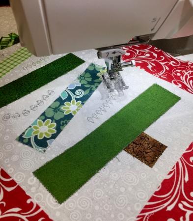 Modern Christmas Tree decorative stitching - 1