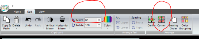 Embroidery Editor Editing Options