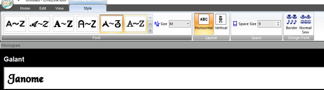 Embroidery Editor Fonts