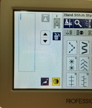 Janome M7 Hand stitch mirror option