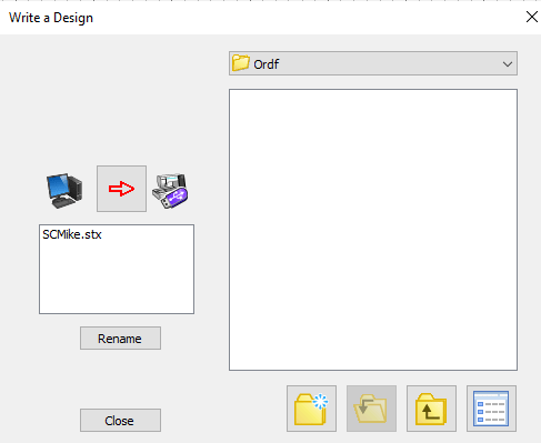 stitch composer correct save into ord folder