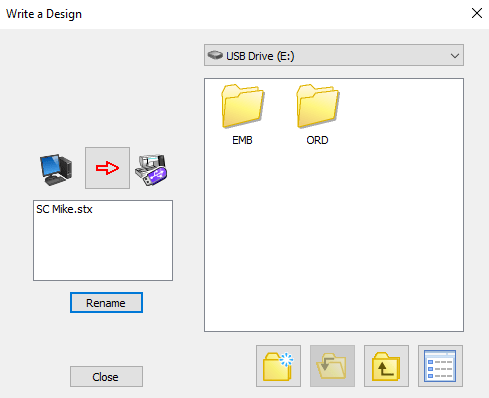 stitch composer correct save ord folder