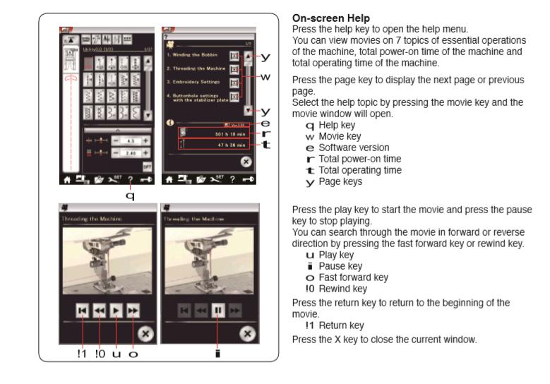 MC15000 Help Movie pg 25 in manual