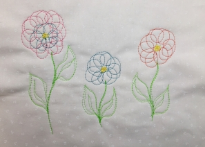 Scribble Stitched Flowers