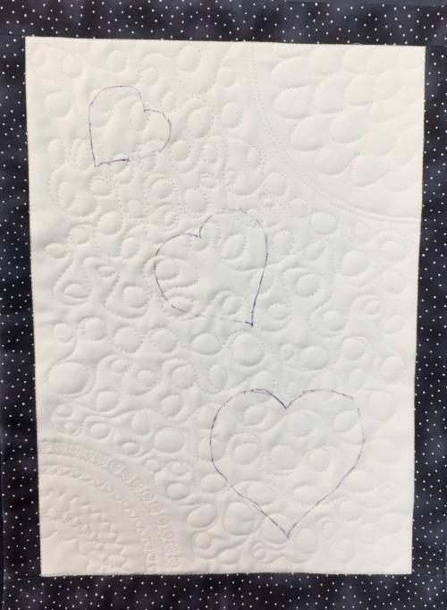 Decorative stitches Janome M7 appliques traced - 1