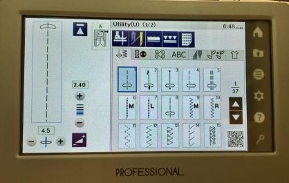 1 M7 main menu utility screen - 1