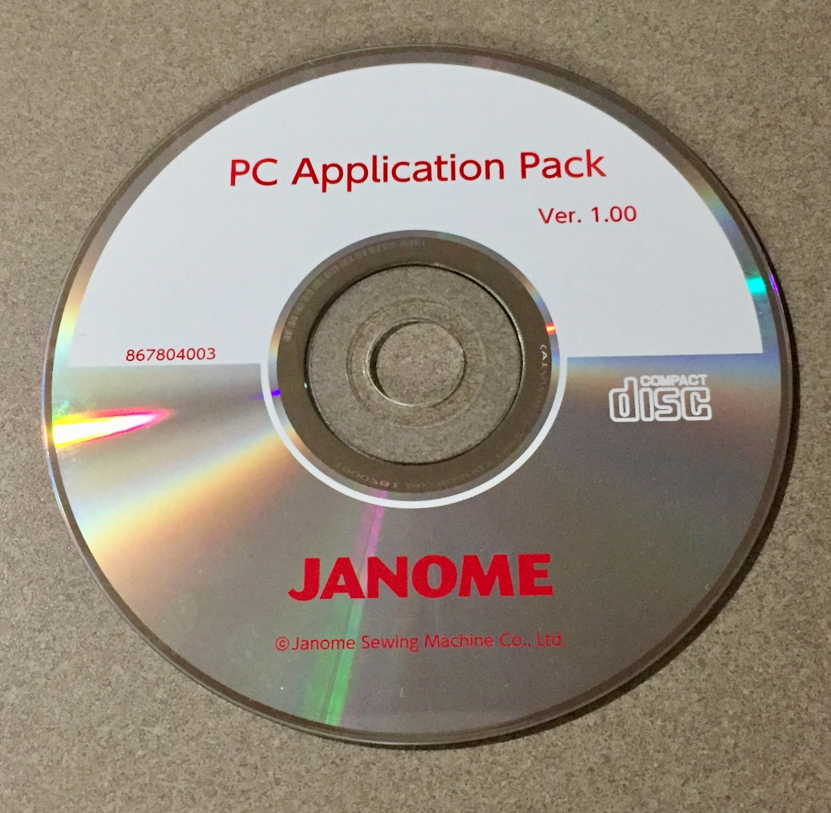 PC Application Pack disc - 1